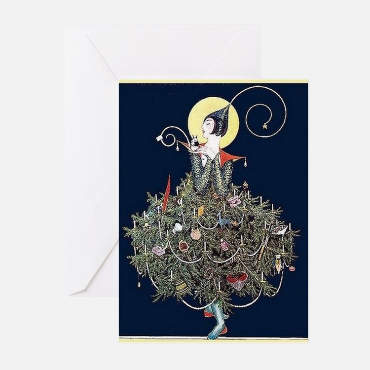 Art Deco Christmas Decorations Uk: Art Deco Christmas Greeting Cards