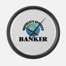 World's Sexiest Banker Large Wall Clock