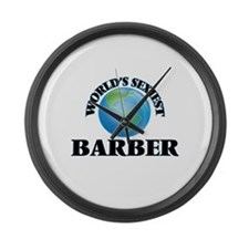 World's Sexiest Barber Large Wall Clock
