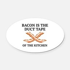 Duct Tape Of The Kitchen Oval Car Magnet