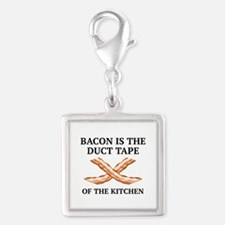 Duct Tape Of The Kitchen Silver Square Charm