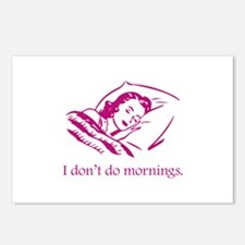 I Don't Do Mornings Postcards (Package of 8)
