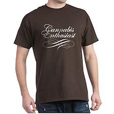Cannabis Enthusiast Brown T-Shirt