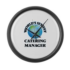 World's Sexiest Catering Manager Large Wall Clock