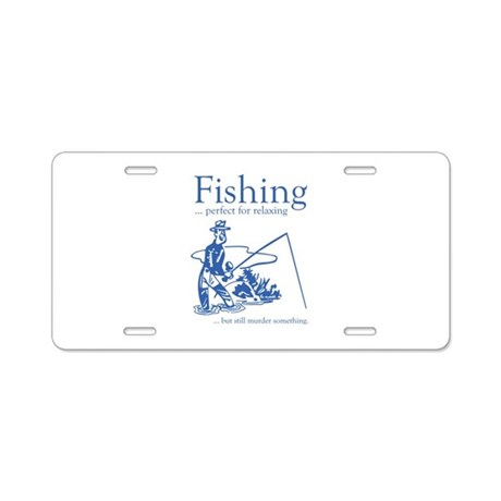 Fishing aluminum license plate by amazingvision for Ohio out of state fishing license