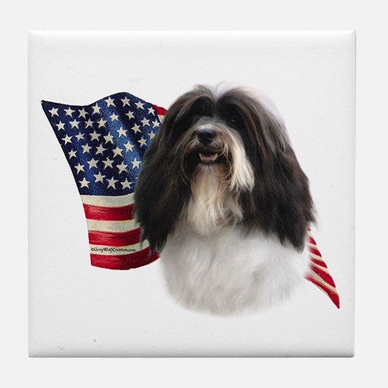 Havanese Flag Tile Coaster