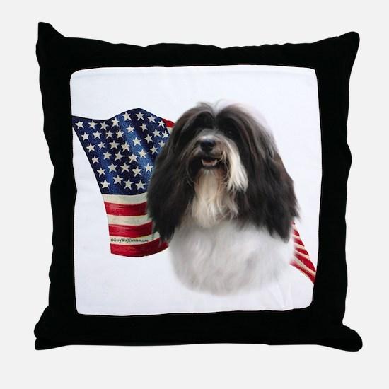 Havanese Flag Throw Pillow