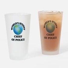 World's Sexiest Chief Of Police Drinking Glass