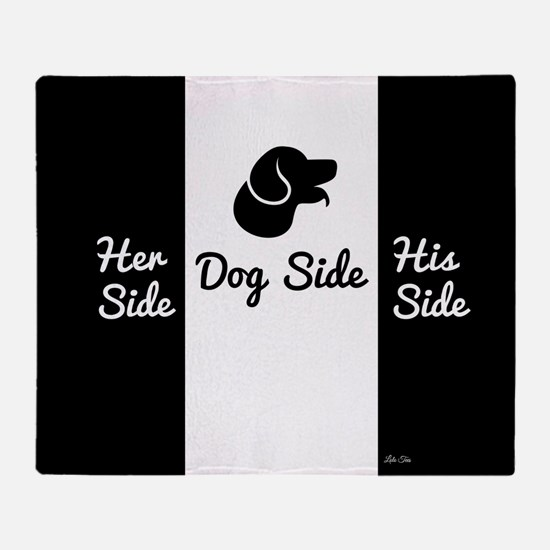 Dog Side vs His/Her Side Bedspread Throw Blanket