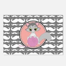 Cute Ragdoll Cat Mustache Postcards (Package of 8)