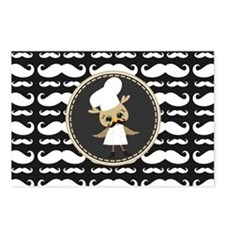 Retro Mustache Owl Chef Postcards (Package of 8)