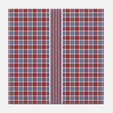 Country Plaid with Stripe Tile Coaster