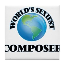 World's Sexiest Composer Tile Coaster