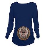Hedgehogs Dark Long Sleeve Maternity T-Shirt