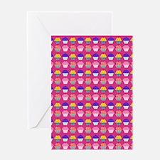 Yummy Sweet Cupcake Pattern Greeting Cards