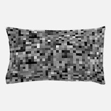 Black Pixel Mosaic Pillow Case
