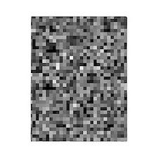 Black Pixel Mosaic Twin Duvet