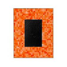 Orange Pixel Mosaic Picture Frame