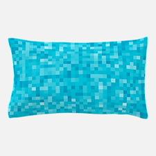 Turquoise Pixel Mosaic Pillow Case