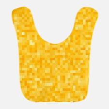Yellow Pixel Mosaic Bib