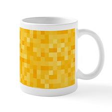 Yellow Pixel Mosaic Small Mug