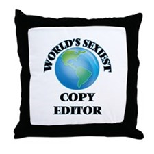 World's Sexiest Copy Editor Throw Pillow