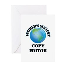 World's Sexiest Copy Editor Greeting Cards