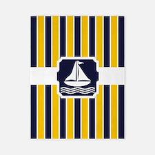 Nautical Sailboat Stripes Twin Duvet