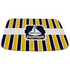 Nautical Sailboat Stripes Bathmat