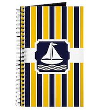 Nautical Sailboat Stripes Journal