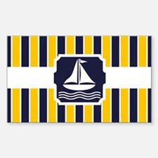 Nautical Sailboat Stripes Decal