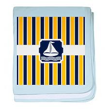 Nautical Sailboat Stripes baby blanket