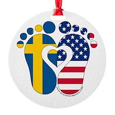 Swedish American Baby Ornament