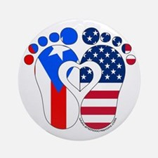 Puerto Rican American Baby Ornament (Round)