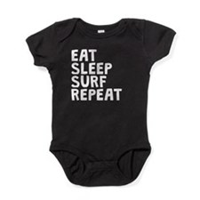 Eat Sleep Surf Repeat Baby Bodysuit