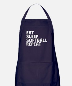 Eat Sleep Softball Repeat Apron (dark)
