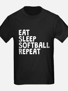 Eat Sleep Softball Repeat T-Shirt
