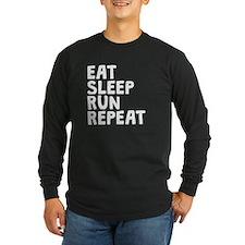 Eat Sleep Run Repeat Long Sleeve T-Shirt