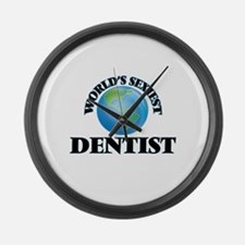 World's Sexiest Dentist Large Wall Clock