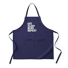 Eat Sleep Read Repeat Apron (dark)