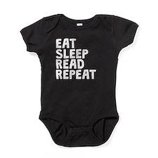 Eat Sleep Read Repeat Baby Bodysuit