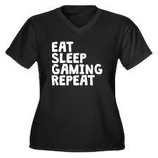 Eat Sleep Gaming Repeat Plus Size T-Shirt