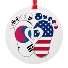 Korean American Baby Ornament