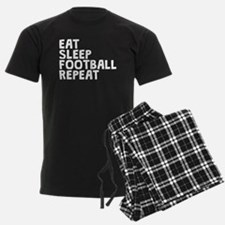 Eat Sleep Football Repeat Pajamas