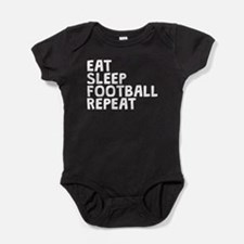 Eat Sleep Football Repeat Baby Bodysuit