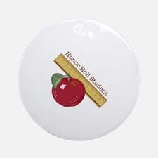 Honor Roll Ornament (Round)