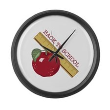 Back To School Large Wall Clock