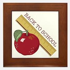 Back To School Framed Tile