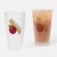 Back To School Drinking Glass