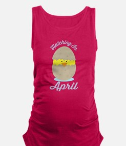 April Due Date chick Maternity Tank Top